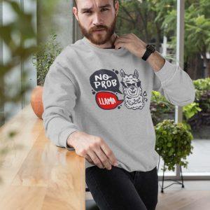 Sweatshirt No Prob Llama Men