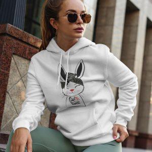 Hoodie Girl Power Bunny